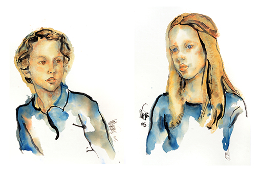 6 portret opdrachten